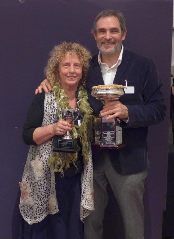 Brigitte and Keith Kat, Alternative View Alpacas, Winner Huacaya of the Year with Alternative View Hero ET (2)